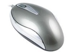 DELTACO MS-713 - mouse - PS/2, USB - grey, silver