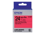 Epson LabelWorks LK-6RBP - label tape - 1 roll(s) - Roll (2.4 cm x 9 m)