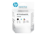 HP - 2-pack - colour (cyan, magenta, yellow), pigmented black - original - printhead replacement kit