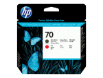 HP 70 - red, matte black - printhead