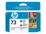HP 73 - matte black, chromatic red - printhead