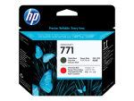 HP 771 - matte black, chromatic red - printhead