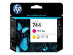 HP 744 - yellow, magenta - printhead
