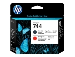 HP 744 - black, chromatic red - printhead