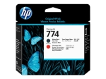 HP 774 - matte black, chromatic red - printhead