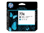 HP 774 - cyan, matte black - printhead