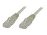 MicroConnect crossover cable - 1 m - grey