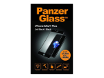 PanzerGlass - Screen protector for mobile phone - jet black - for Apple iPhone 6 Plus, 6s Plus, 7 Plus