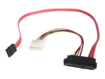 StarTech.com 18in SAS 29 Pin to SATA Cable with LP4 Power - 18in SAS 29 pin to SATA Cable - 18in SFF 8482 to SATA (SAS729PW18) - SATA / SAS cable - 46 cm